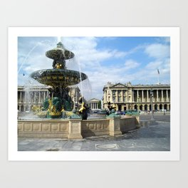 Place de la concorde, Paris Art Print