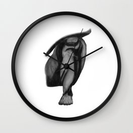 Patience: Figure Drawing Study Wall Clock