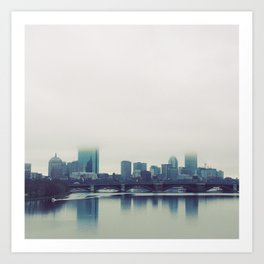 Boston Charles River Fog Art Print
