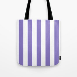 Ube violet - solid color - white vertical lines pattern Tote Bag