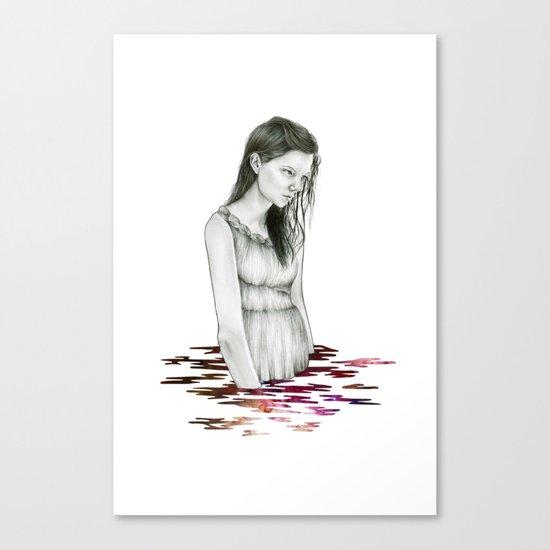 Nebula Lake Print Canvas Print