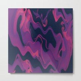 Wavy Space - Hot Pink Metal Print