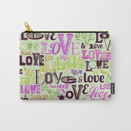 Vintage Love Words Carry-All Pouch