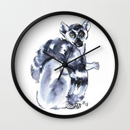 Funny cute lemur Wall Clock