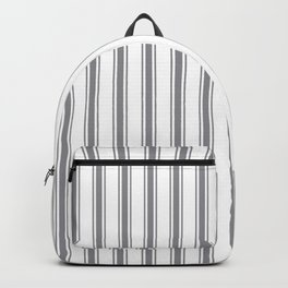 Gray blue ticking stripes Backpack