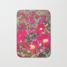 Red Flowers Bath Mat