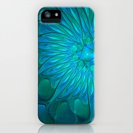 Floral in Sea Colors iPhone Case