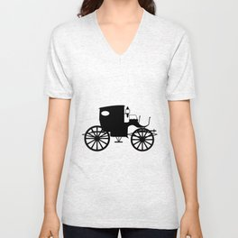 Old Carriage Silhouette Unisex V-Neck