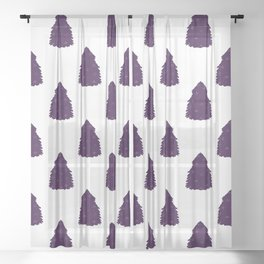 Bushy Christmas tree Sheer Curtain
