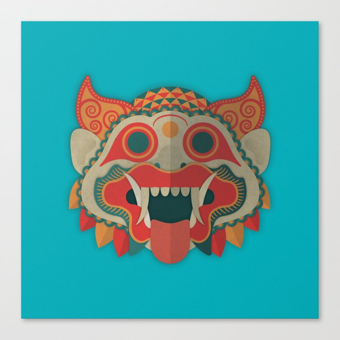 Paper Mask Canvas Print