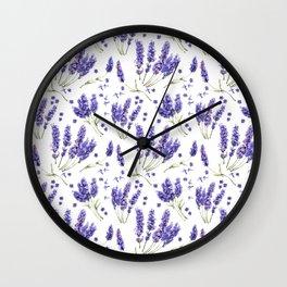 Lavender Purple Dream Watercolor Pattern Wall Clock