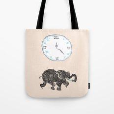 Elefante reloj Tote Bag