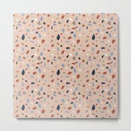 Terrazzo mosaic pattern Metal Print