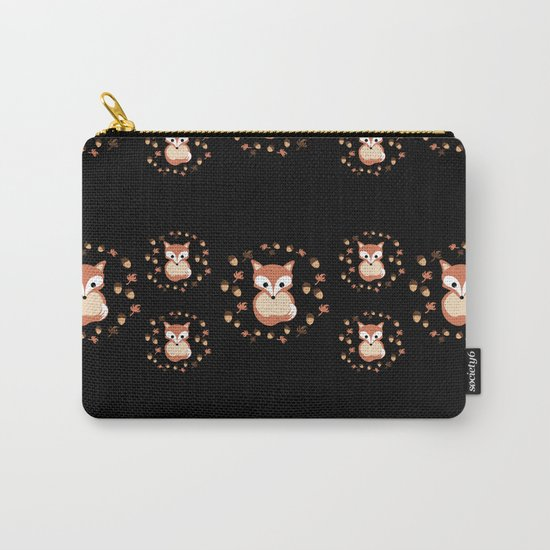 foxes in autumn. Pattern. Carry-All Pouch