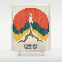 universe Shower Curtains featuring Come See The Universe by Picomodi