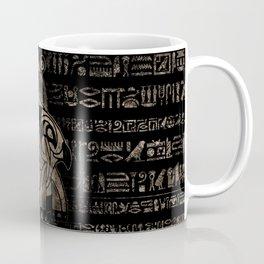 Egyptian Horus -vintage gold on black Coffee Mug