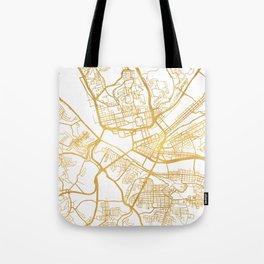 PITTSBURGH PENNSYLVANIA CITY STREET MAP ART Tote Bag
