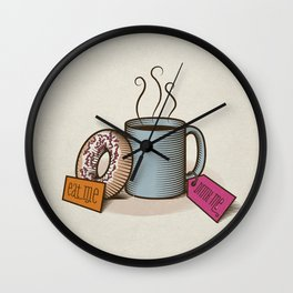 Breakfast in Wonderland Wall Clock