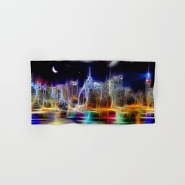 Starry Night New York City Hand & Bath Towel