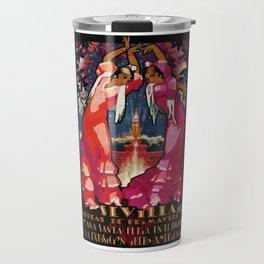 Spain 1930 Seville April Fair Travel Poster Travel Mug