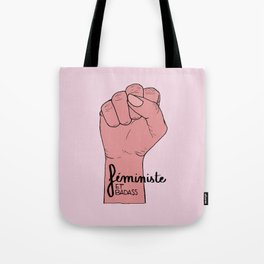 Féministe et badass Tote Bag