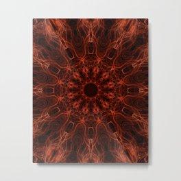 Glowing red mandala Metal Print