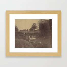Japanese Bridge Framed Art Print