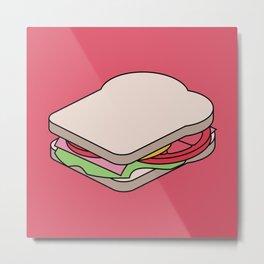 Exploded Sandwich Diagram.  Graphic Artwork Metal Print