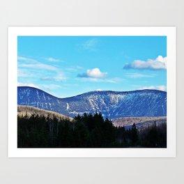 North Face Mont Albert Art Print