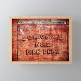 Seligman Fire Dept. Framed Mini Art Print
