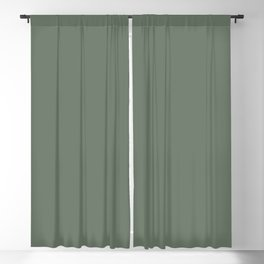 Dark Forest Green Solid Color Inspired by Benjamin Moore Crushing Green HC-125 Blackout Curtain