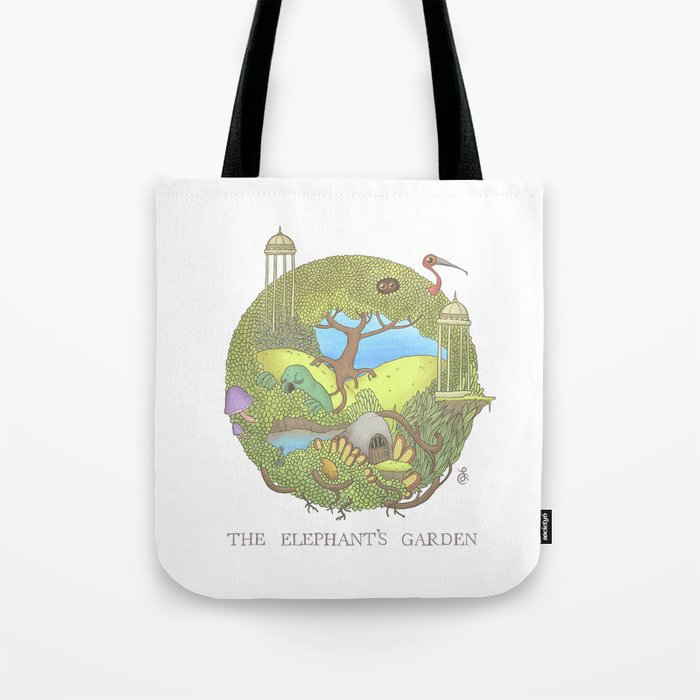 The Elephant\'s Garden - Version 1 Tote Bag by felixcolgrave | Society6