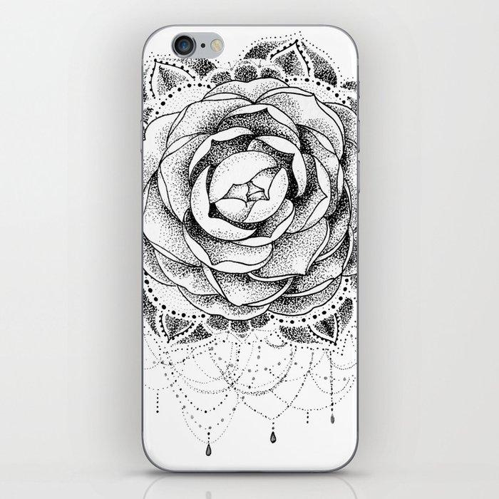 5b310ed84 Camellia Dotwork Mandala iPhone Skin by robinelizabethart | Society6