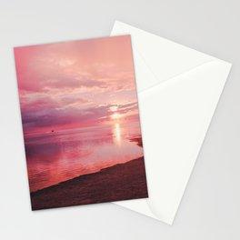Maldivian sunset 7 Stationery Cards