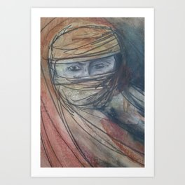 Arabian woman Art Print