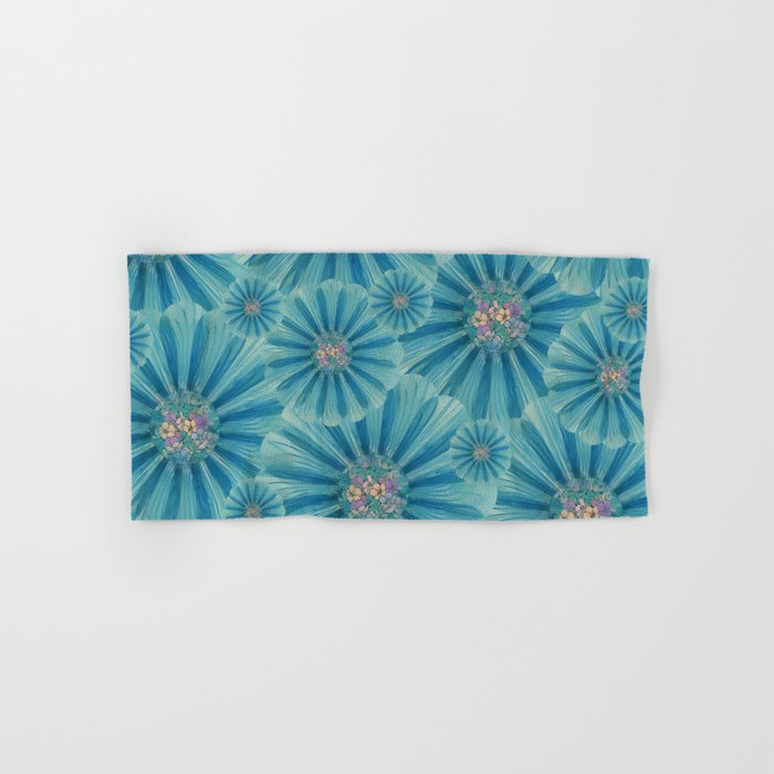 Fractal Flower Pattern Hand & Bath Towel