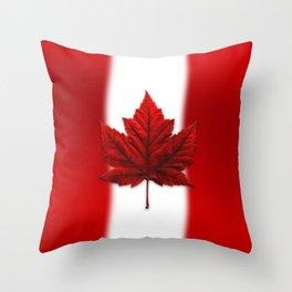 Canada Flag Souvenirs Throw Pillow