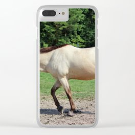 Off On A Trot Clear iPhone Case