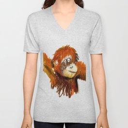 Orangutan Unisex V-Neck
