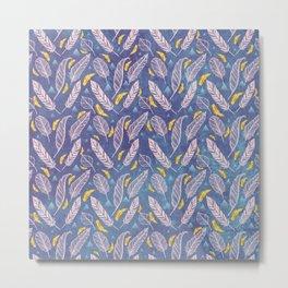 Royal Feather Pattern Metal Print
