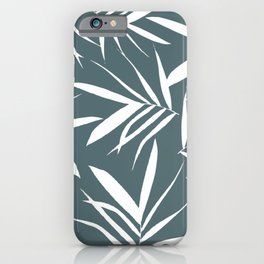 WhiteGreen leaves decor iPhone Case
