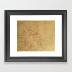 Hands Framed Art Print