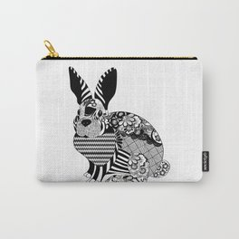 Rabbit floral Carry-All Pouch