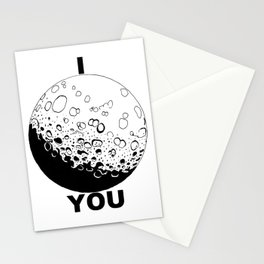I Moon You Stationery Cards