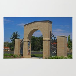 Lourdes University- Lourdes Entrance in the Spring II Rug