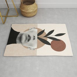 Abstract geometric floral beauty Rug