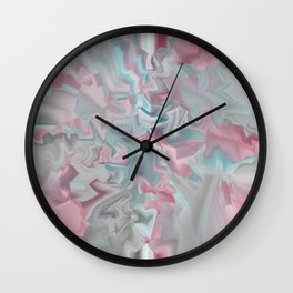 The Calm 2 Abstract In Pink Green and Blue Wall Clock