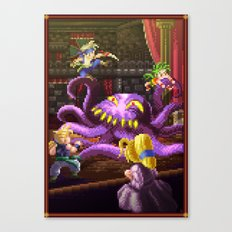 Pixel Art series 3 : Octopus Canvas Print