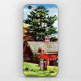 Tardis Art With The Wood iPhone Skin
