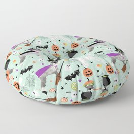 Schnauzer dog breed halloween costumes cute dog gift for fall autumn Floor Pillow